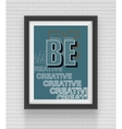 square black frame on brick wall background vector image vector image