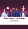 sri lanka tourism poster vector image vector image