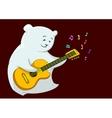 Teddy bear with guitar vector image vector image