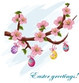 The background to the day of Easter vector image vector image