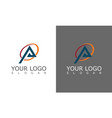 triangle round logo vector image vector image