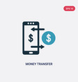 two color money transfer icon from payment vector image vector image