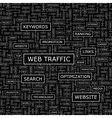 WEB TRAFFIC vector image vector image