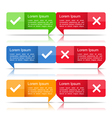 Banners with Check and Cross Symbols vector image