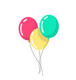 air balloons in a flat style balloons isolated vector image