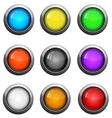 Color button set vector image
