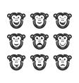 Monkey smiley icons vector image