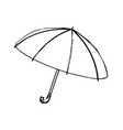 3d model of an umbrella on a white vector image