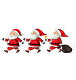 a set of santa claus with different action vector image