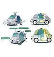 autonomous smart cars colorful set vector image