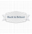 Back to School Text on festive Label with Ribbon vector image