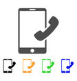 Call smartphone icon vector image