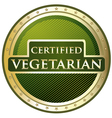 Certified Vegetarian Label vector image vector image