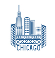 Chicago Illinois USA skyline design template vector image vector image