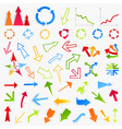 collection of arrows6 vector image vector image