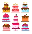 color flat background with cake vector image vector image