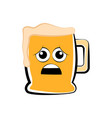 colored sad beer mug icon vector image vector image