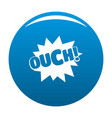 comic boom ouch icon blue vector image vector image