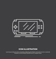 console device game gaming psp icon line symbol vector image vector image