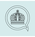 crown isolated design vector image