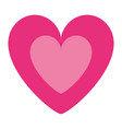 cute pink heart in love decoration vector image vector image