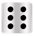 dice number six vector image vector image