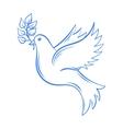 dove hand drawn dove peace vector image