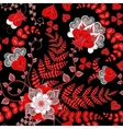 Elegant seamless pattern with red fantasy flowers vector image vector image