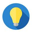 flat light bulb vector image