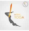 Flying yoga logo Aerial yoga for women vector image