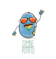 funny cartoon cute blue zombie potato vector image vector image