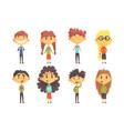 funny disciples elementary school cute boys vector image vector image