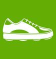 golf shoe icon green vector image vector image