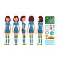 handball girl player female match vector image vector image
