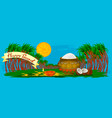happy pongal holiday harvest and festival blue vector image