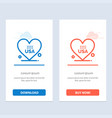 heart love american usa blue and red download and vector image vector image