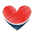 heart medical isolated icon vector image vector image