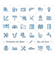icons repair home improvement construction vector image