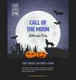 invitation template for halloween party vector image