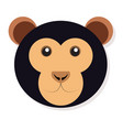 isolated monkey face vector image vector image