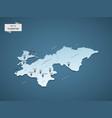 isometric 3d tajikistan map concept vector image vector image