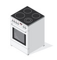isometric electric stove vector image