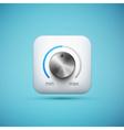 knob icon vector image vector image