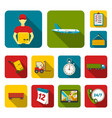 logistics service flat icons in set collection for vector image vector image