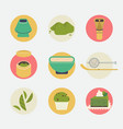 matha round icons or stickers vector image