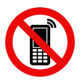 Mobile Phone prohibited vector image vector image