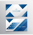 modern business card in blue color vector image vector image