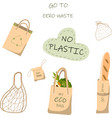 paper bag for recycling a set of vector image