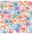 passport visa stamps seamless pattern vector image