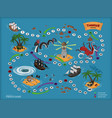 pirate board game for children map treasure vector image